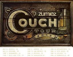 Zumiez Couch Tour 2012. Follow us for music news, tours and set lists. Bands on each dates are: Seattle(May 26th): The Classic Crime and DaytraderPortland(May 28th): The Classic Crime and DaytraderSacrament(June 2nd): A Skylit Drive and DaytraderSLC(June 7th): The Cab and DaytraderDenver(June 9th): The Cab and DaytraderSan Antonio(June 13th): The Wonder Years and DaytraderHouston(June 15th): The Wonder Years and DaytraderBaltimore(June 18th): Set Your Goals and ConditionsPhiladelphia(June 20th): Set Your Goals and ConditionsWest Nyack(June 21st): Set Your Goals and ConditionsChicago(June 24th): We Came As Romans and Set Your GoalsMinneapolis(June 26th): We Came As Romans and Set Your Goals