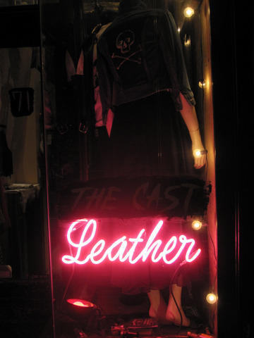 OUR PINK NEON SIGN FOR THE WINDOW SAYS IT ALL.
