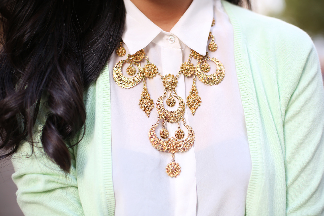 what-do-i-wear:  Zara Shirt and Cardigan,  Vintage Necklace (image: garypepper)