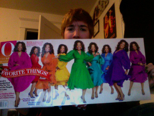 notyoudonut: did oprah seriously put herself on the cover of her own magazine nine times?  I take this as Oprah's way of coming out as a lesbian.