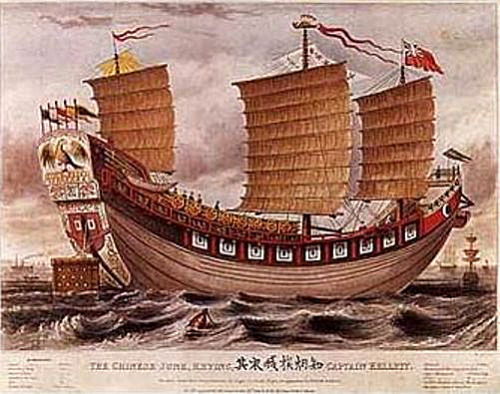 "historical-nonfiction:  In 1822, the Tek Sing Chinese junk (basically, a ship) ran aground on a reef while heading to Indonesia. The ship was carrying porcelain for the then-Dutch colony, but also held a crew of 200 and around 1,600 Chinese immigrants bound for the islands. An ill-advised shortcut doomed the ship and most of the passengers. Only about 200 people survived until another ship happened by the next day. The similar loss of life to the most famous shipwreck in history has led the Tek Sing to be called ""the Titanic of the East."""