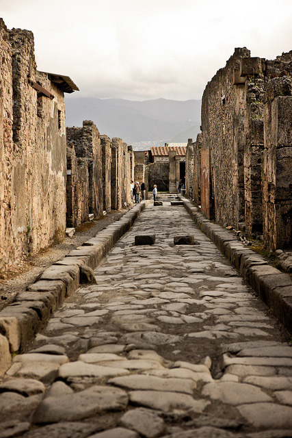 Roman Road Through Pompeii by cliff.hellis on Flickr.