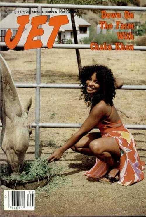 Chaka Khan , Jet magazine, October 1978.
