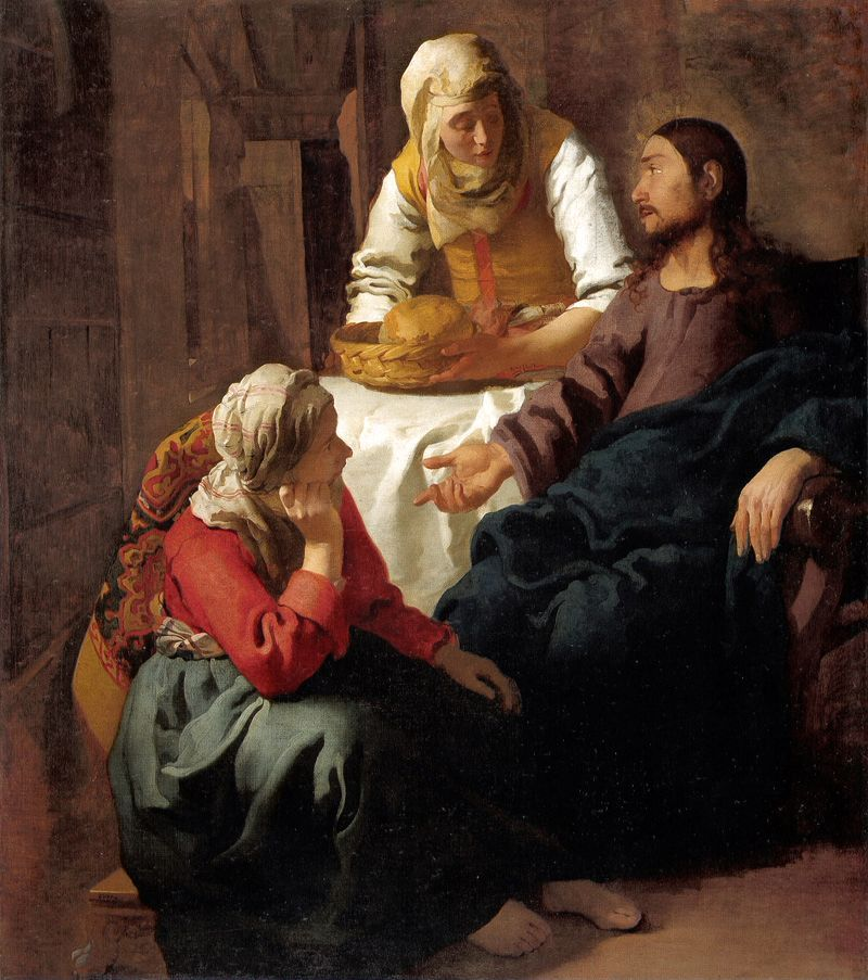 missfolly:  Johannes Vermeer: Christ in the House of Mary and Martha (ca. 1654-1655)