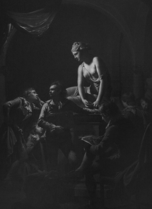 Joseph Wright of Derby, Academy by Lamplight, c. 1768-69