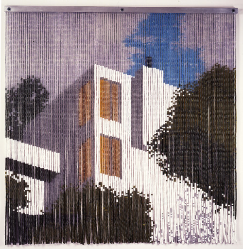 """Untitled (Modernist House)"" beaded curtain, kori newkirk, vvork"