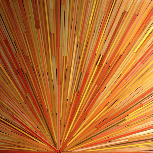 David Poppie, Sliced Pencils.