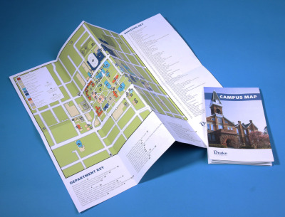 I recently re-designed Drake University's campus map! Check out the photos of this and my illustrations in the all new Drake Blue Magazine on my Flickr