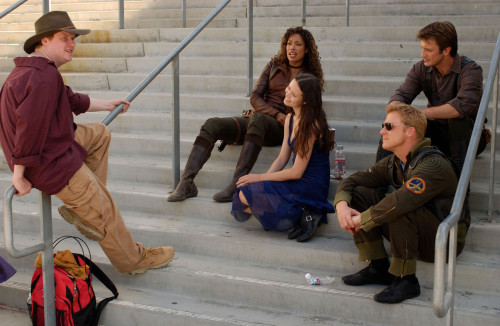 Joss Whedon and the cast of Firefly.