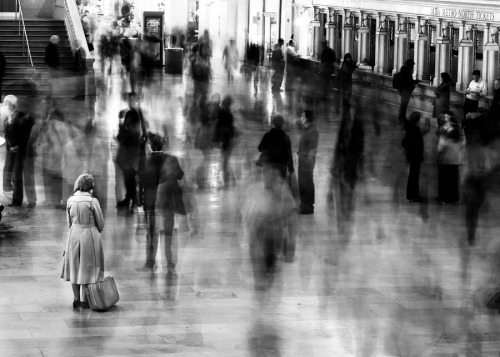 firsttimeuser:  Waiting in Grand Central, 2003 by James Maher
