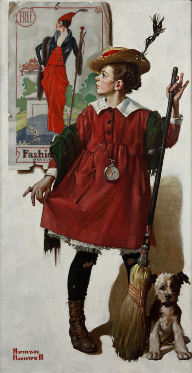 missfolly:  Norman Rockwell: The Little Model (1919)