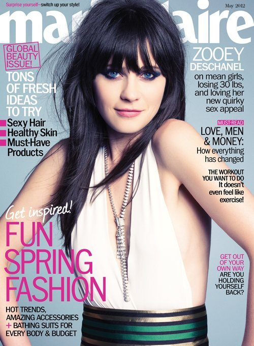 onedirectionstylators:  Zooey Deschanel covers Marie Claire May 2012 issue!