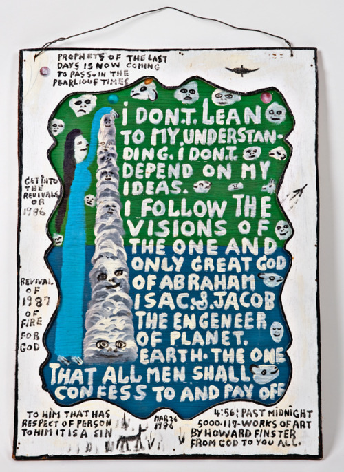 Howard Finster //I Don't Lean
