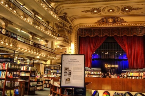 #books #photos  Renovated Theater Book Store in Buenos Aires