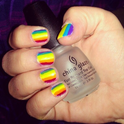 #nailpolish #nails #rainbow #chinaglaze  (Taken with instagram)