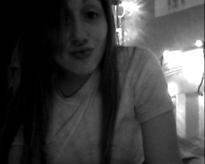 new hair, no makeup, and duck face. meep.