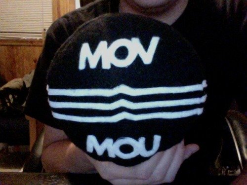 burymyself:  Courtney made me this little Moving Mountains pillow for me! It's definitely the coolest thing anyone has ever made me.  Ryan is the coolest. Go follow him!