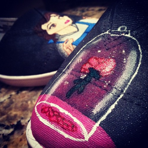hayleythehatter:  Bet you'd never see the day that I made BatB shoes. (Taken with instagram)