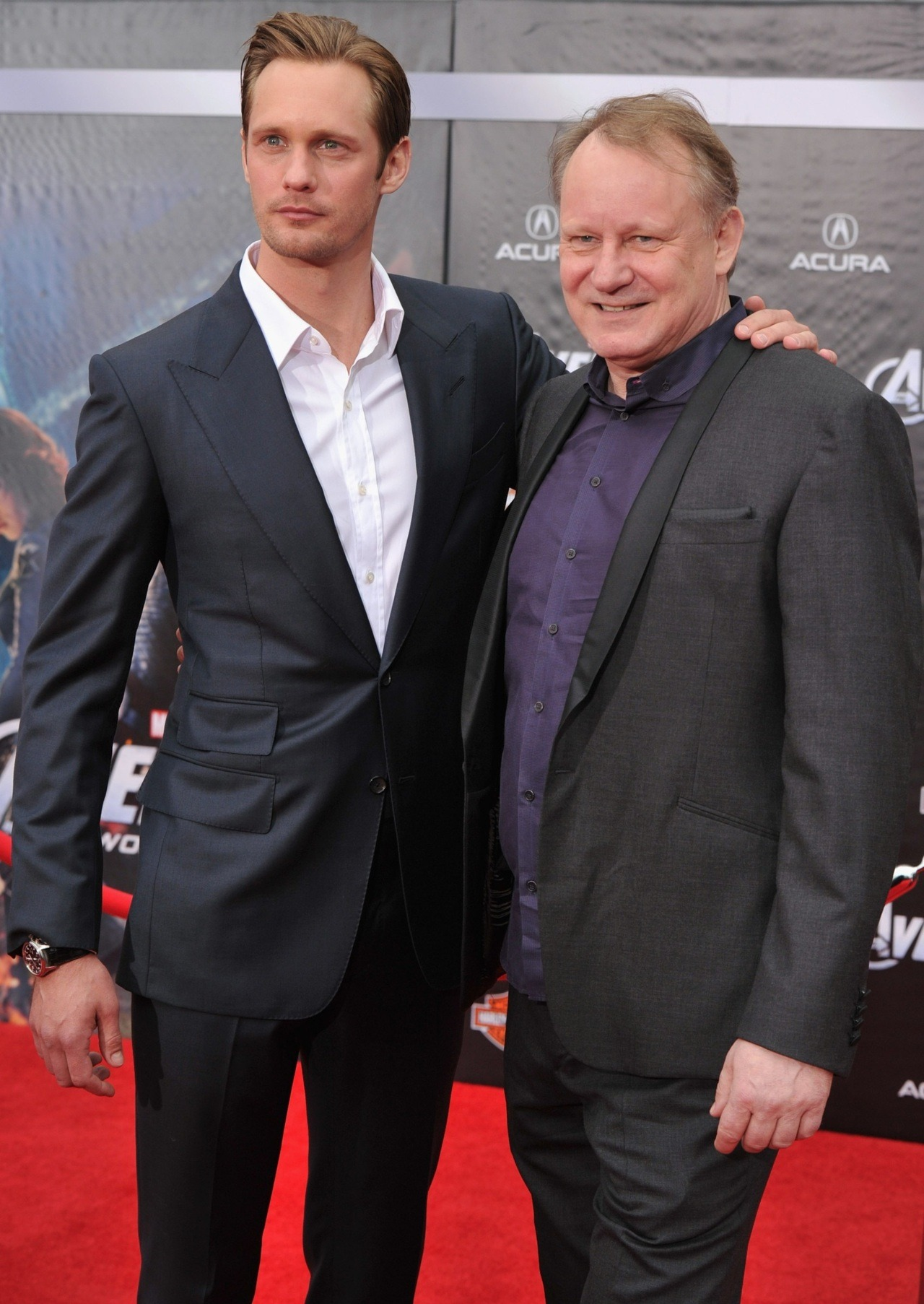 suicideblonde:  Alexander and Stellan Skarsgard at the LA premiere of The Avengers, April 11th Double your Skarsgard pleasure!!  God I love Swedes.