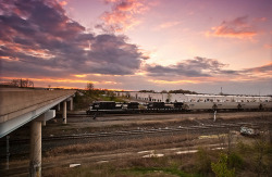 conrailbrian:  Norfolk Southern 44V at Powell Road by Brandon Townley - www.brandontproductions.com on Flickr.