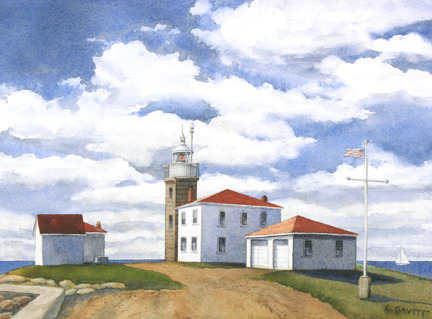 """Watch Hill Lighthouse"" by Laurie Gavitt"