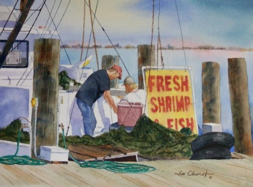 """Fresh Shrimp"" by Jim Oberst"