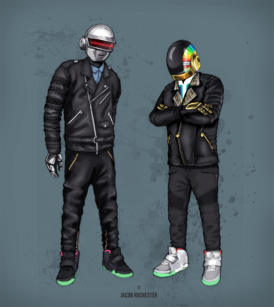 Daft Punk x Nike Air Yeezy 2 by Jacob Rochester src