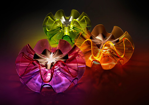 Flamenca decorative lighting by QisDesign inspired by the twirl of a flamenco skirt