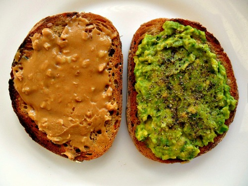 chef-ru:  Lunch: multi-grain sourdough toast - one with peanut butter and one with avocado, lemon juice, salt and pepper :)