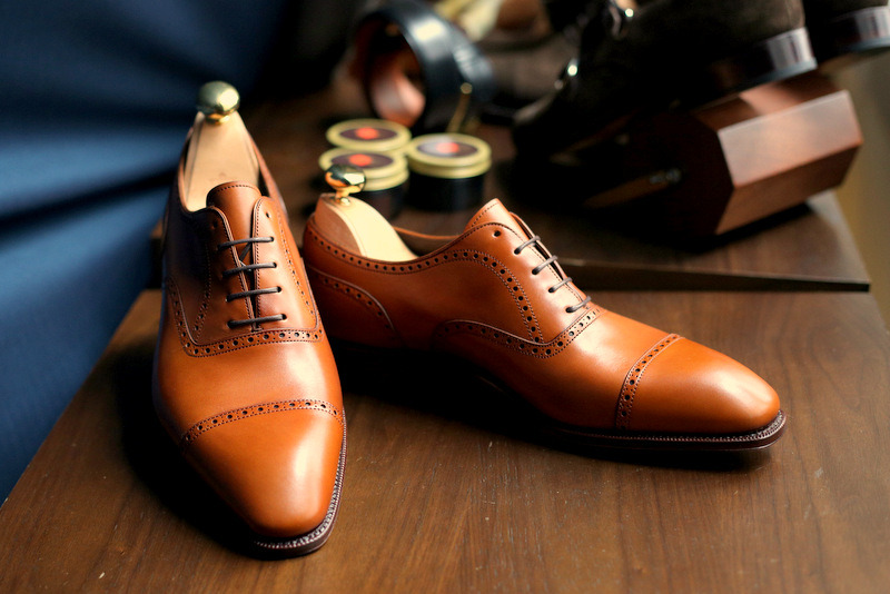 lnsee:  Its the new Simpson Semi-brogues in Tan in stock @ the Armoury… Great color to age!!