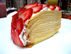 taiwanesefood:  Cafe Landmark - Crepe Cake by tychenyt on Flickr.