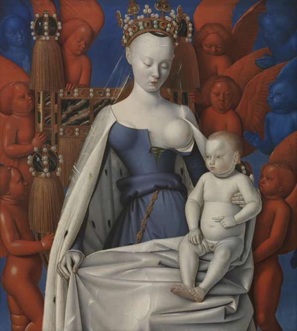 claytoncubitt:  Jean Fouquet, 'Madonna Surrounded by Seraphim and Cherubim' 1452