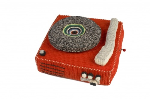 Record Store Day 4/21/12 I'm thinking about making some #yarnbombs to plant near record shops  in South Mpls. Check out this pattern for some sweet crocheted vinyl.  Photo: Crochet Record Player by Anne-Claire Petit.