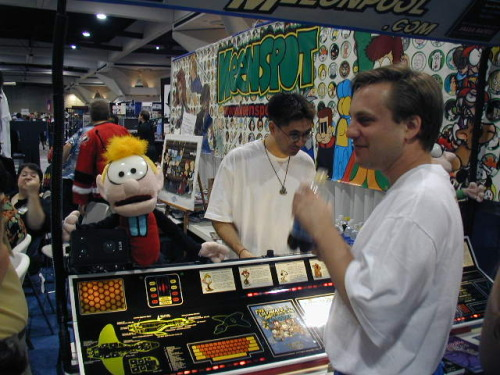 Melonpool was a third of the Keenspot booth in 2002.