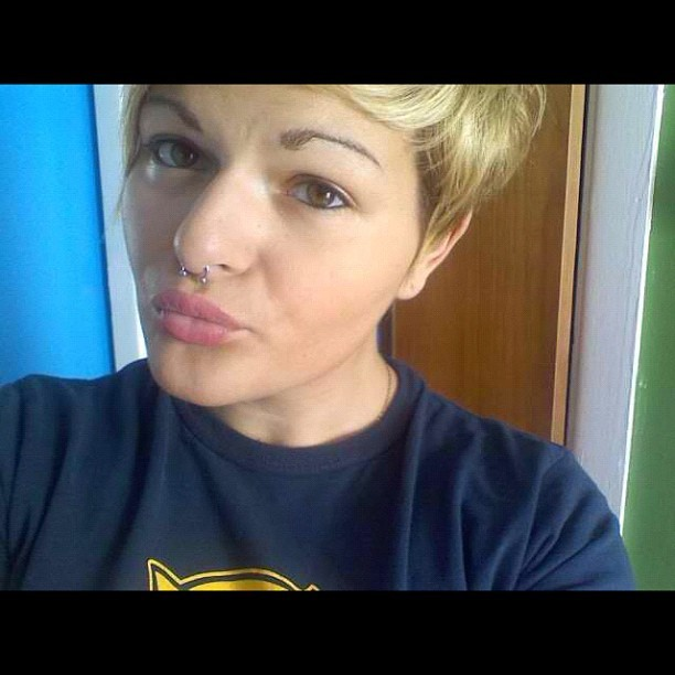 I really miss my #hair like this. Cut it? #blonde #pixie #short #cute #adorable #septum #eyebrows  (Taken with instagram)