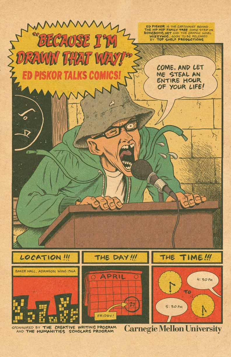edpiskor:  Gonna be giving a talk at Carnegie Mellon University in a few weeks.