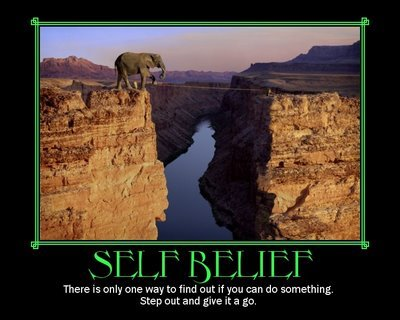 Topic for this week - self belief!