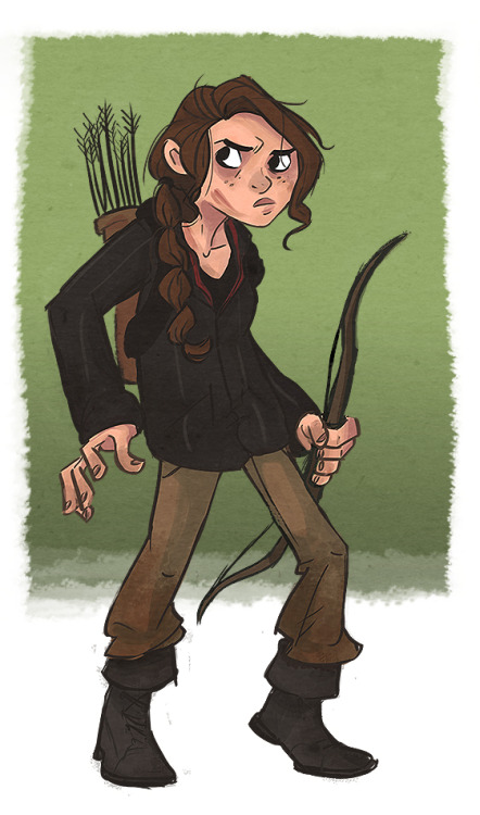 And then I felt like drawing Katniss.