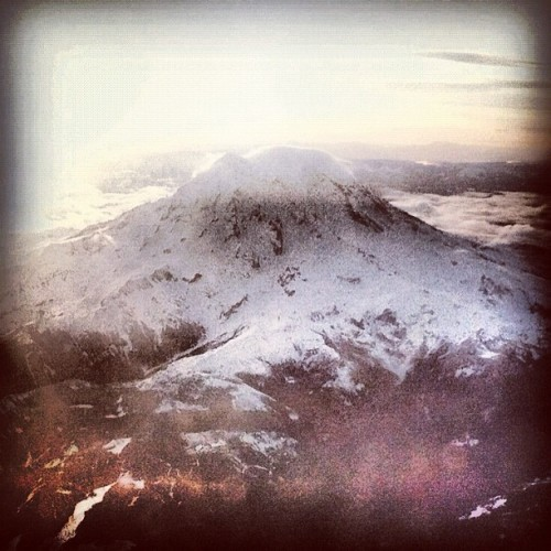 Rainier flyby (Taken with instagram)