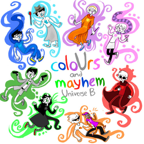 UuU  coloUrs and mayhem part two art! happy 4/13 everyone! my godcat picture is also in this album!