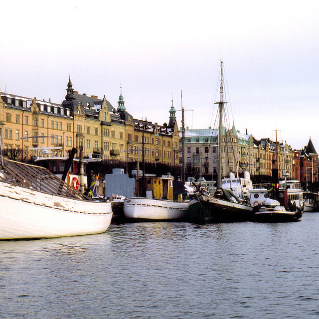 | ♕ |  Waterfront - Old Stockholm Harbor  | by © Peter Gutierrez | via ysvoice