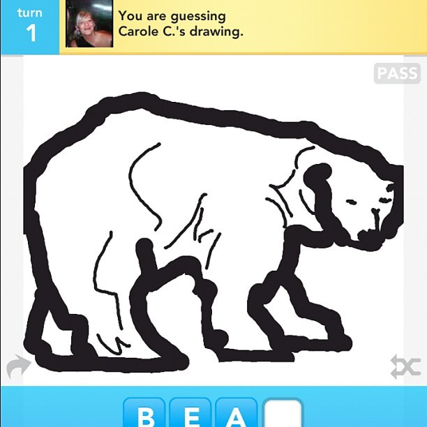#DrawSomething #Art #Bear #wow (Taken with instagram)