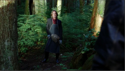 "intensegenius:  Graham: ""I thought you were a wolf."" Mr. Gold: ""Oh, I'm sorry, did I forget to shave?""  Just Mr Gold, derpin in the woods. He looks like he's burying a dead body. And SHERIFF Graham is just like 'Oh, yeah, gardening, cool, sounds legit to me.' I love him, I ugly sobbed when he died, but boy was not the brightest wolf in the pack. Gold's trolling will never stop being funny."