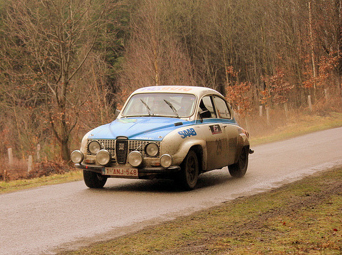 carpr0n:  Training hard Starring: SAAB 66 (by Radio Brouwer Rally)