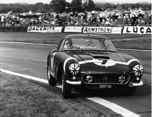 Stirling Moss Ferrari 250 GT SWB at the 1960 Tourist Trophy