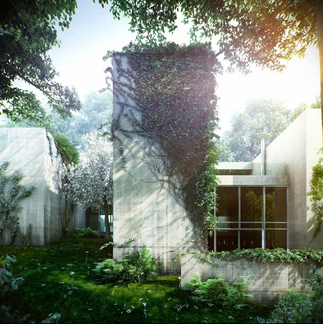 homedesigning:  A Beautiful Ivy Overgrown House in Hungary