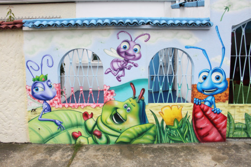 "oneinfortythousand:  ""Bug's Life"" Graffiti in Kennedy / Bogota, Colombia » June 3rd, 2011"