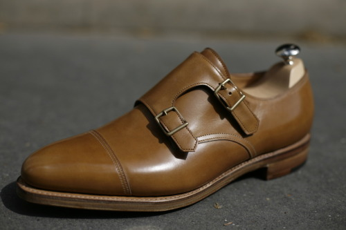 John lobb William Ardilla Misty Calf - Gold buckles By Request
