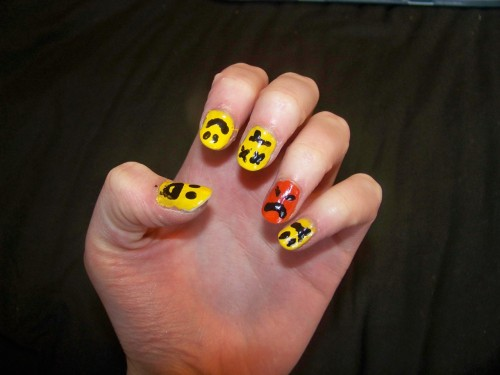 Yay!! my fun and funky modestep nails :D
