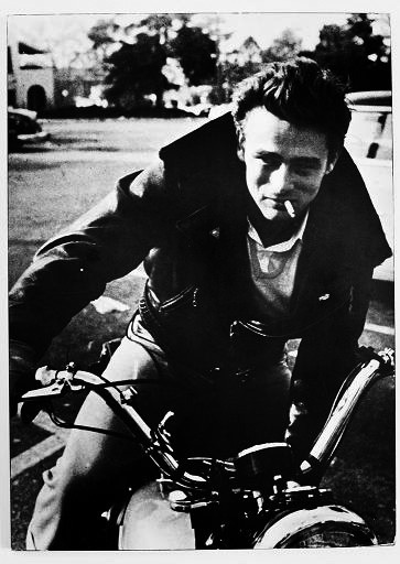 James Dean perfecting the leather jacket look